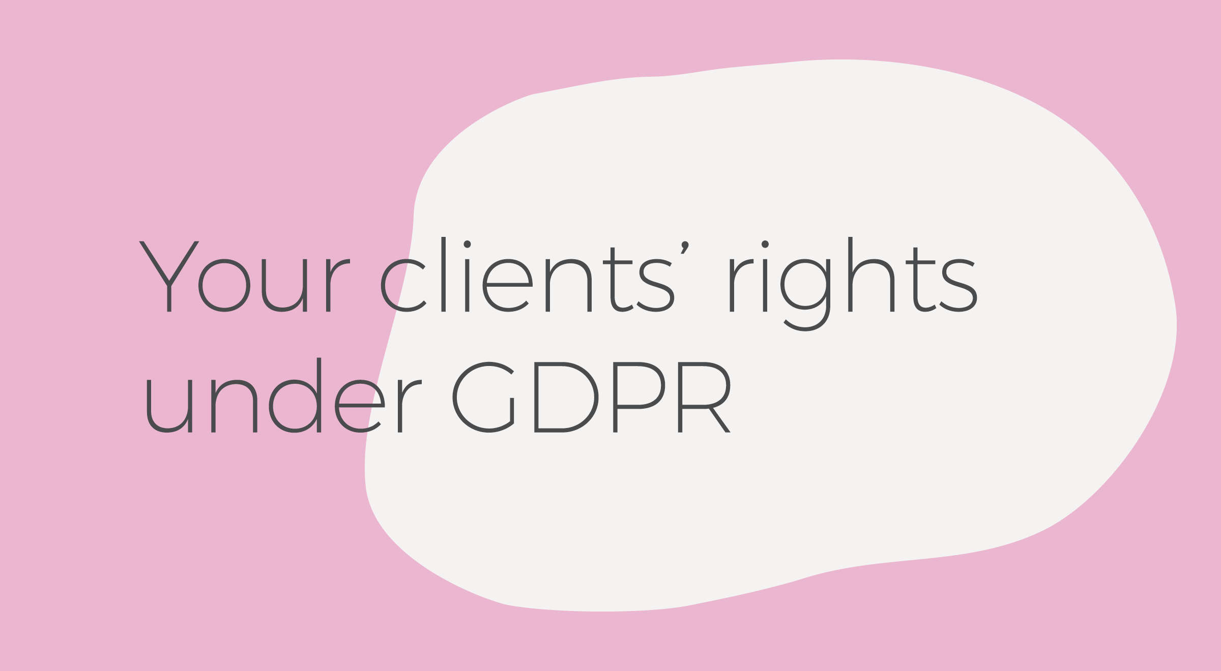 GDPR advice for counsellors